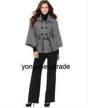 2010 Popular Women Suit, Women's Suits, Custom Made Suits,Houndstooth Jacket & Wide Leg Pants, Accept   471