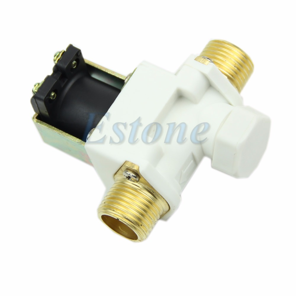 1/2 Electric Solenoid Valve For Water Air N/C Normally Closed DC 12V New 2way2position 3 8 electric solenoid valve n c gas water air 2w160 10