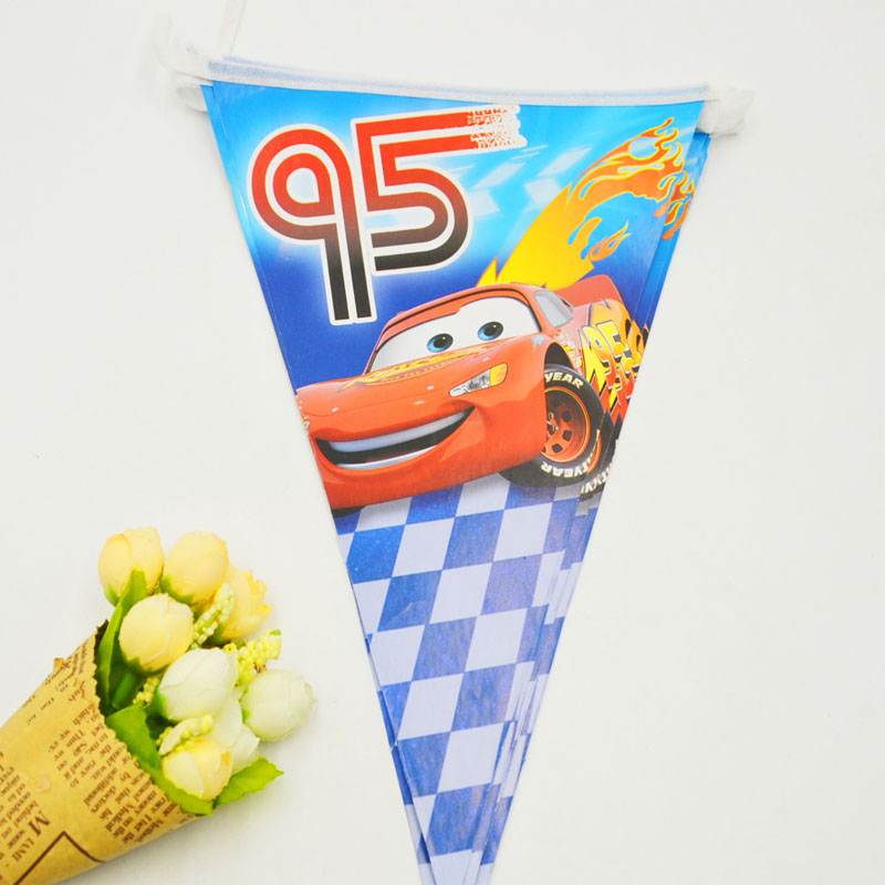 2.5m Lightning Mcqueen Cute Brithday Party Supplies Red Cars Party Flags/Pennants Outdoor Kids Party Decoration cars flags