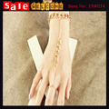 Indian Jewelry Exaggeration Gold Plated Finger Round Bracelet Mitten Finger Round Chunky Bracelet Bangle for Women Wholesale