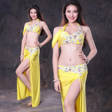 Bellydance oriental Belly Indian gypsy eastern dance dancing costume costumes clothes bra belt ring robe skirt
