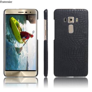 Crocodile Leather Case For Asus Zenfone 3 ZE552KL ZE520KL 3S Max ZC520TL ZC553KL ZS570KL ZC553KL Laser ZC551KL Hard Back Cover image
