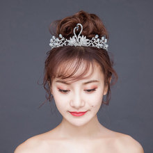 все цены на New Pearl Alloy Rhinestone Crown Birthday Crown Fine Crown Dinner Party Princess Crown Bridal Jewelry онлайн