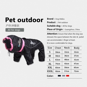Image 4 - Dog Winter Clothes Warm Dog Coats Windproof Pet Dogs Jacket 3m Reflective Doggy Four Legged Hoodies Waterproof PETS Clothing