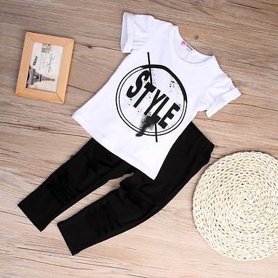 2016-Kids-Girls-Clothes-Set-Baby-Girl-Summer-Short-Sleeve-Print-T-Shirt-Hole-Pant-Leggings-2PCS-Outfit-Children-Clothing-Set-3
