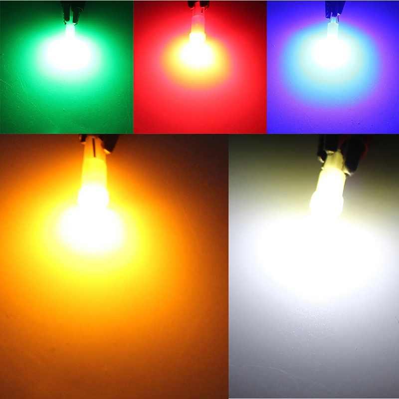 5 шт. T5 светодиодный салона панель датчик прибора авто клина стороны света лампы DC 12 В белый красные, синие желтый и зеленый цвета