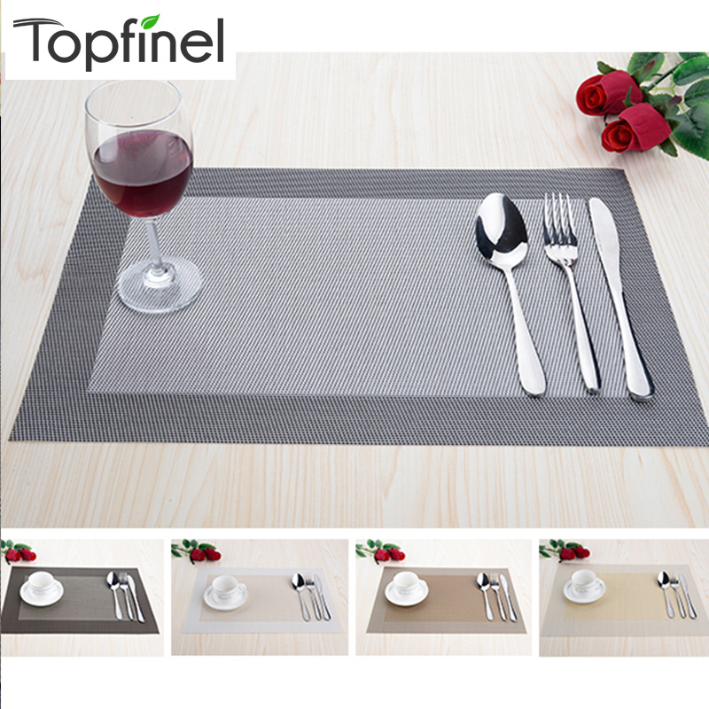 Top finel set of 8 pvc decorative vinyl placemats for for Decorative dining table accessories