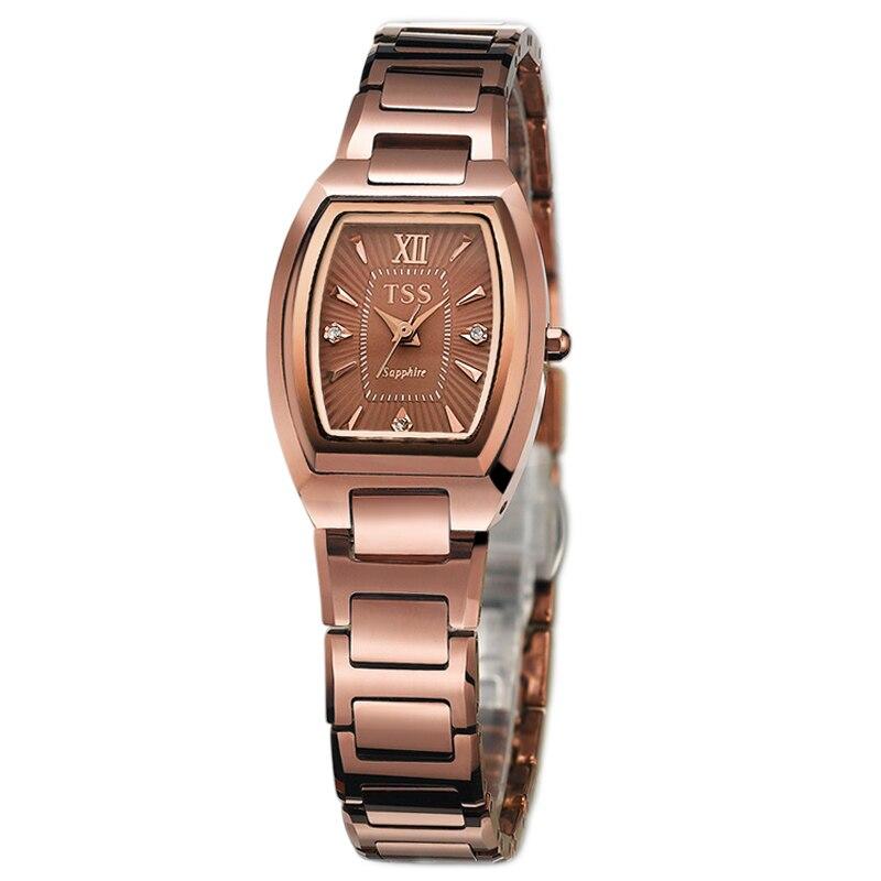 TSS amant couple série de tungstène acier dames montre à quartz montre dames montre de mode de mode couple montre étanche