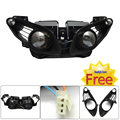 R1 2009 2010 2011 Motorcycle Front Headlight Head Light Housing with Free Headlight Cover For Yamaha YZF-R1 2009 2010 2011