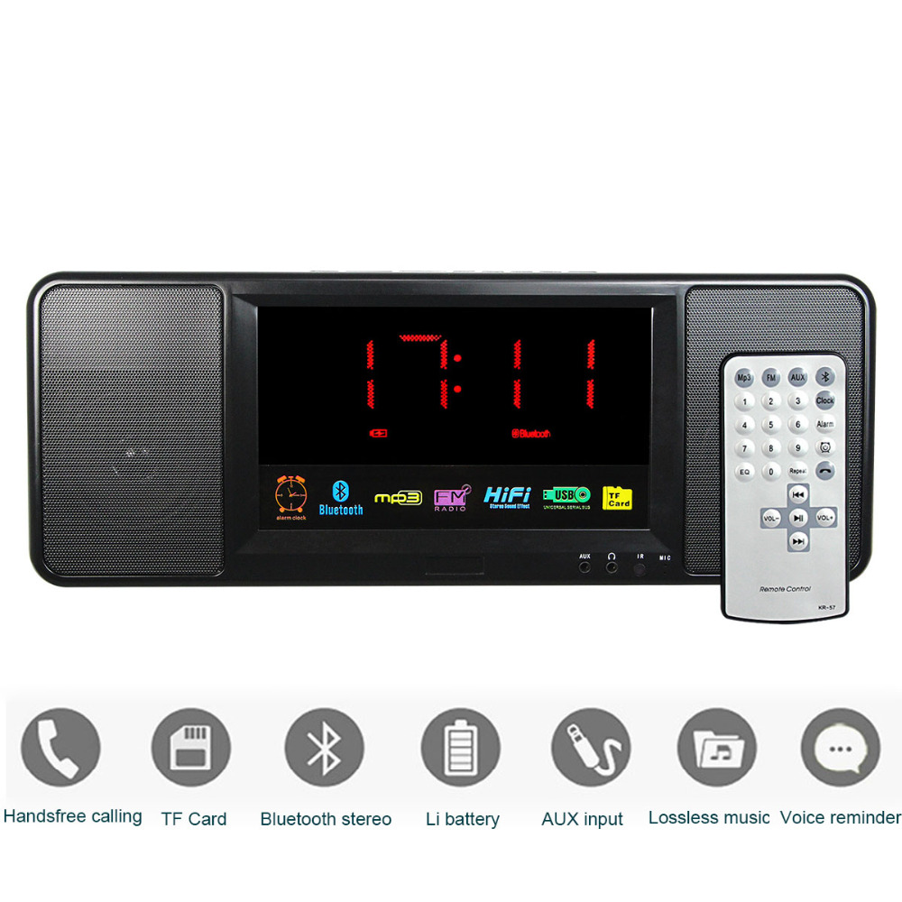 Hot sale 5W Digital FM Radio Bluetooth Speaker Alarm Clock FM Stereo Radio MP3 Player with