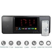 ¡ Venta caliente! 5 W Altavoz Bluetooth FM Radio Despertador Digital FM Radio Estéreo Reproductor de MP3 con Control Remoto Y4369A