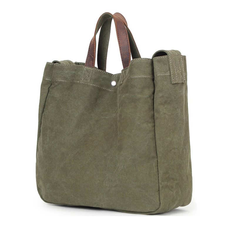 Minimalist  Canvas Women girls Handbag, Fashion Simple high quality shoulder bags with premium leather handle for male shopping