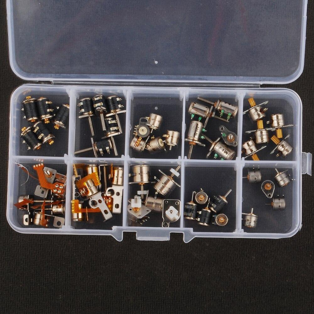 50 stücke 3-5 V dc 10 arten von 4 Draht 2 Phase mikroschrittmotor ...