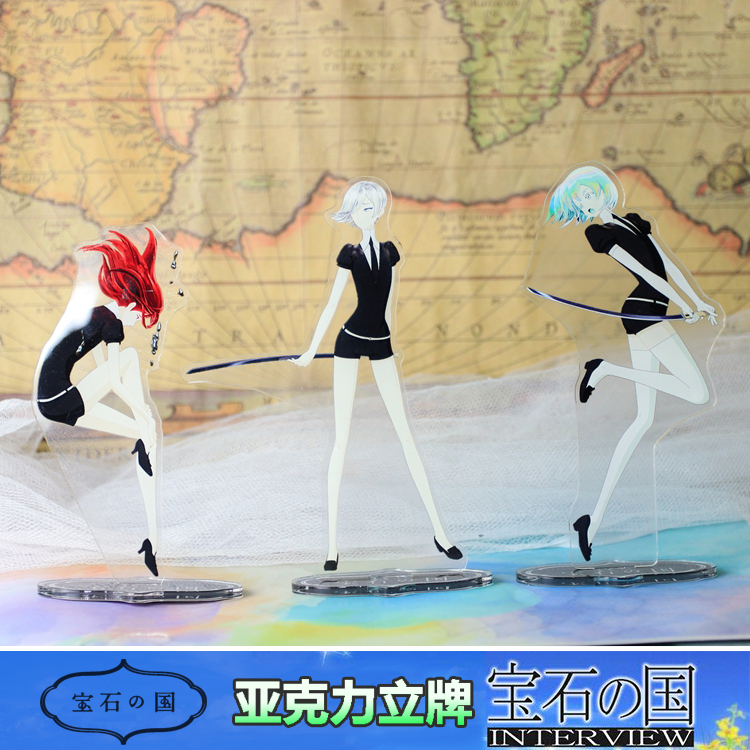 Anime Hoseki No Kuni Land Of The Lustrous Characters Figurines Acrylic Ornaments Badge Desktop Decoration Gifts