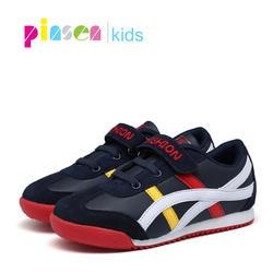 2019 Осенняя детская обувь кроссовки для мальчиков обувь детская мода для девочек повседневная спортивная Беговая кожаная детская обувь для