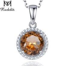 Куололит зултанит драгоценный камень кулон для женщин Твердые 925 пробы серебряный цвет изменить ожерелье Diaspore драгоценный камень хорошее ювелирное изделие