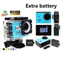 WiFi Extreme Sport Cameras Action Camera 2.0inch LCD 1080P HD 30m Waterproof Go Pro Style Cam MINI Camera HD Sport DV 2 battery