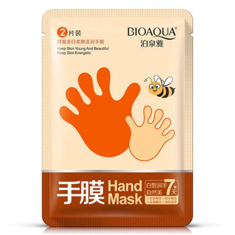Hot Sale Amazing Baby Hand <font><b>Skincare</b></font> Spa Honey Remove Hard Dead Skin Whitening Peeling Mask TF