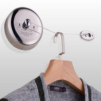 Novo aço inoxidável Retrátil Varal antiderrapante-Varanda secagem racks de Corda Roupas discrição banheiros