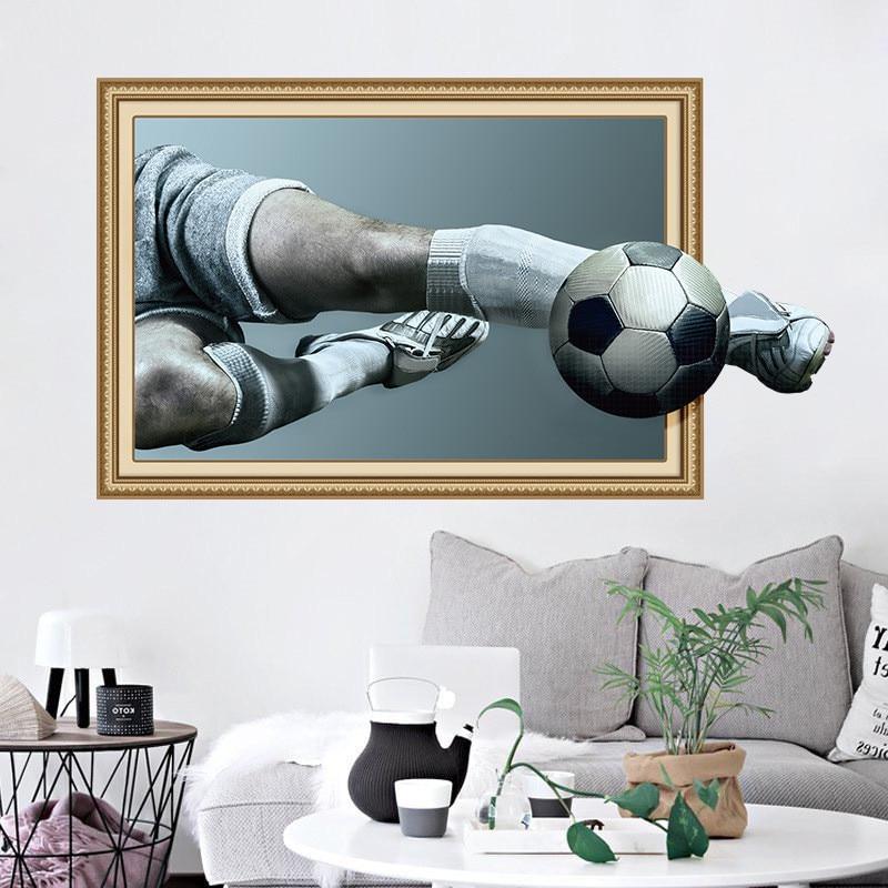 Aliexpress Com Buy G319 Soccer Shooting Custom: Aliexpress.com : Buy 3D Football Shooting Creative Wall