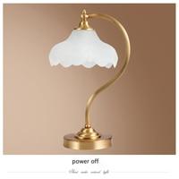 Бесплатная доставка Американский спальне свет стол фойе Европейский современные светодиодные настольные лампы Меди настольная лампа