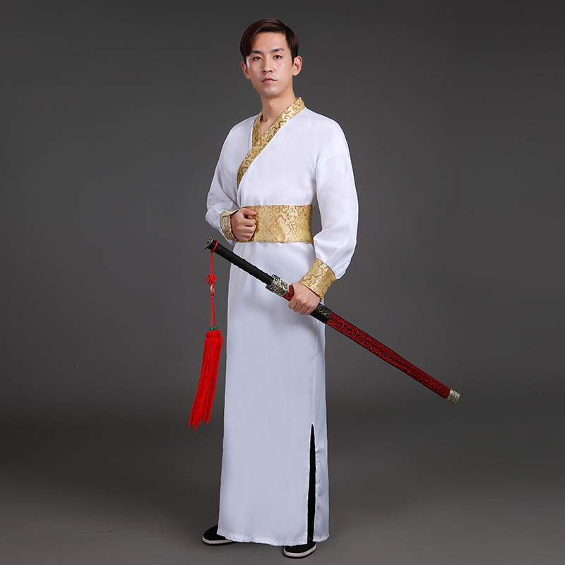 Men's Hanfu 2018 New Adult Costume Hanfu Costumes Improved Chinese Style Warrior Knights Scholars Song Dynasty Costumes