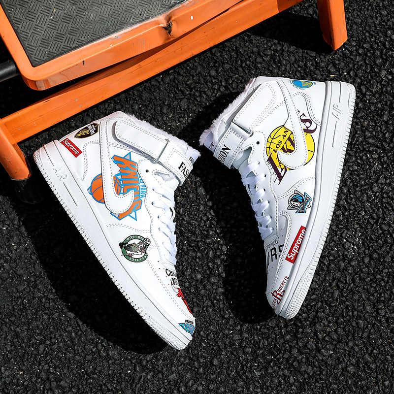 04f1c7b446 New Big size jordan sneakers winter warm Off White VaporMax AIR Unisex  jordan 1 Basketball shoes