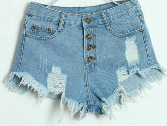Aliexpress.com : Buy Ripped Shorts Denim Shorts With High Waist ...