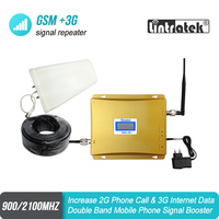 GSM 900 3G Cellular Signal Booster GSM 2100mhz 3G UMTS Full Kit Mobile Amplifier WCDMA 2100 Dual Band Repeater Extender 44