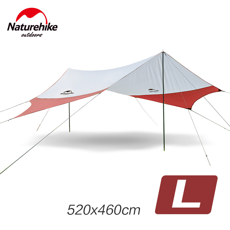 Naturehike Large Camping Tent Awning Beach Playing Games Fishing Hiking Outdoor 5 Person Tent Grey Orange outdoor camping hiking automatic camping tent 4person double layer family tent sun shelter gazebo beach tent awning tourist tent