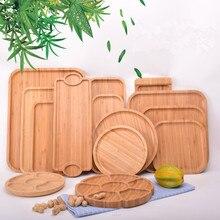 Tray Restaurant-Storage Snacks Pastry Bamboo-System Japanese-Plate Fruit-Platter Rectangular