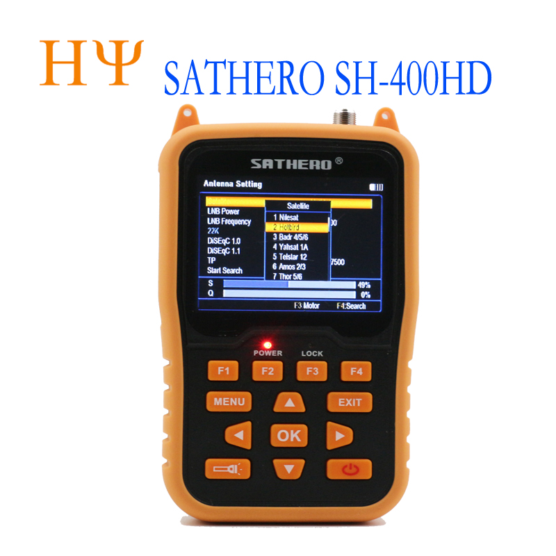 Genuine satellite finder sathero sh 400HD DVB S2 with 3 5 inch DVB S2 MPEG