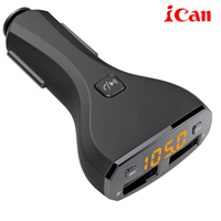 Ican Dual 2 Porte USB Car Charger Adapter 2 Porte 5V2.4A mini caricabatteria da auto sigaro presa perfor iphone for samsung C30S
