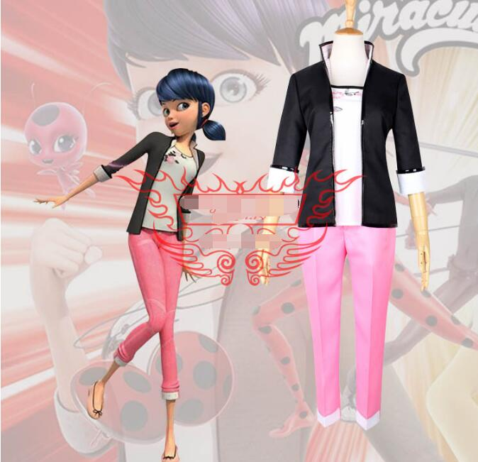 где купить Anime Miraculous Ladybug cosplay Adrien cos Halloween party Masquerade costume coat+shirt+pants по лучшей цене