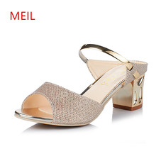 Women Sandals Slipper Ladies Summer Shoes Open Toe High Heels Peep 2018 Sandalias Elegantes