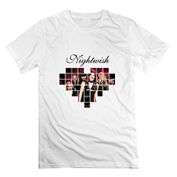 T Shirt Summer Casual Short O Neck Best Friend Mens Awesome Nightwish Band Logo Lovely Round