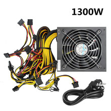 1300W ATX Miner Power Supply with Cable for GPU Card PC 24 Pin Bitmain Antminer Mining Miner Power Supply Machine