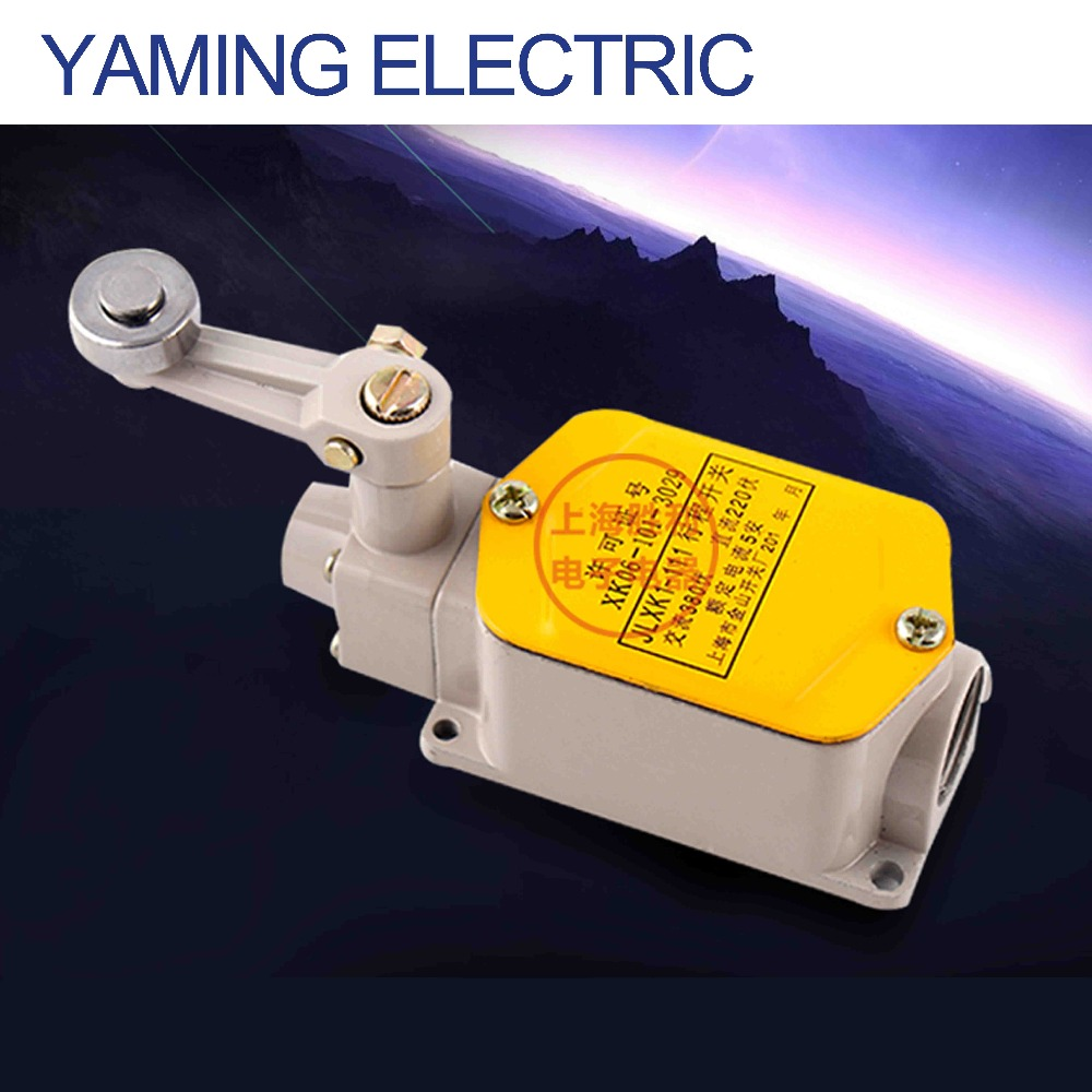 P128 JLXK1 JLXK1-111 5A AC380V DC220V Limit Switch elevator switch single wheel Roller Lever Enclosed Rotary Actuator switch professional electrical switches dustproof rotary roller lever limit switch overtravel limit for cnc mill laser plasma me 8108