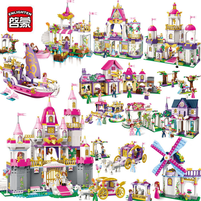 Enlighten Building Block Girl series Friends Princess Angel Castle Educational Compatible Bricks Toy For girl