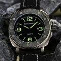 Мужские часы с большим циферблатом 50 мм, модные спортивные часы для отдыха, светящиеся кварцевые часы с кожаным ремешком, наручные часы с ка...