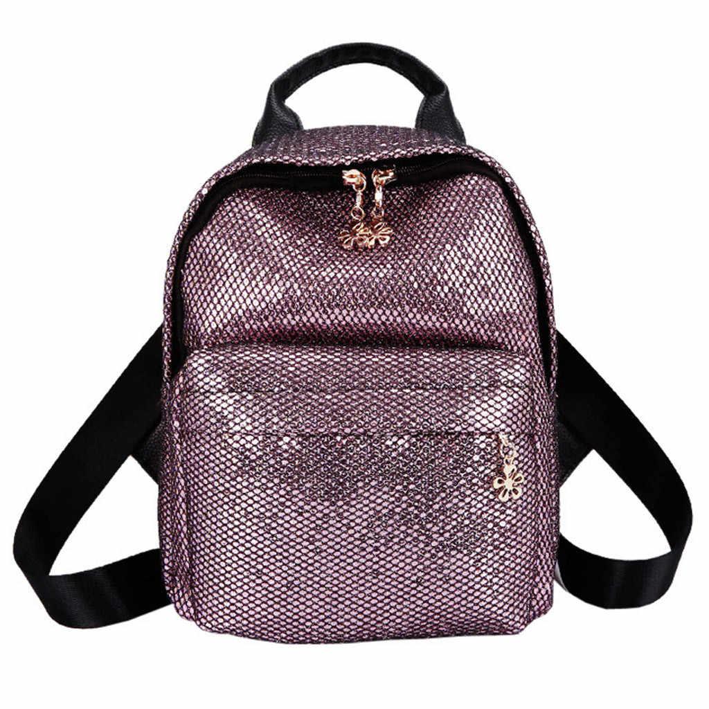 b0fe7763d8 Shining Sequins Backpack Women 2019 Travel Small Backbag Leisure Trend  School Bags for Teenage Girls Bolsa Feminina #YL5
