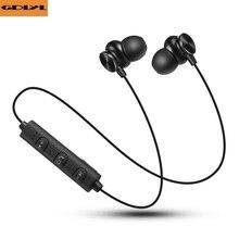 GDLYL Bluetooth Sem Fio Fone De Ouvido Esporte de Corrida Ímã Estéreo Fones De Ouvido Com Microfone Do Fone De Ouvido fone de Ouvido Para O Telefone Móvel