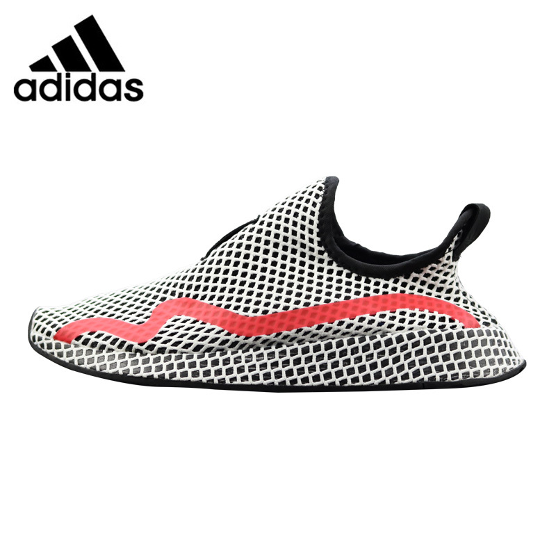 купить Adidas Deerupt Runner Women's Running Shoes Grey & Red Shock-absorbing Lightweight Breathable CG6089 по цене 6630.44 рублей