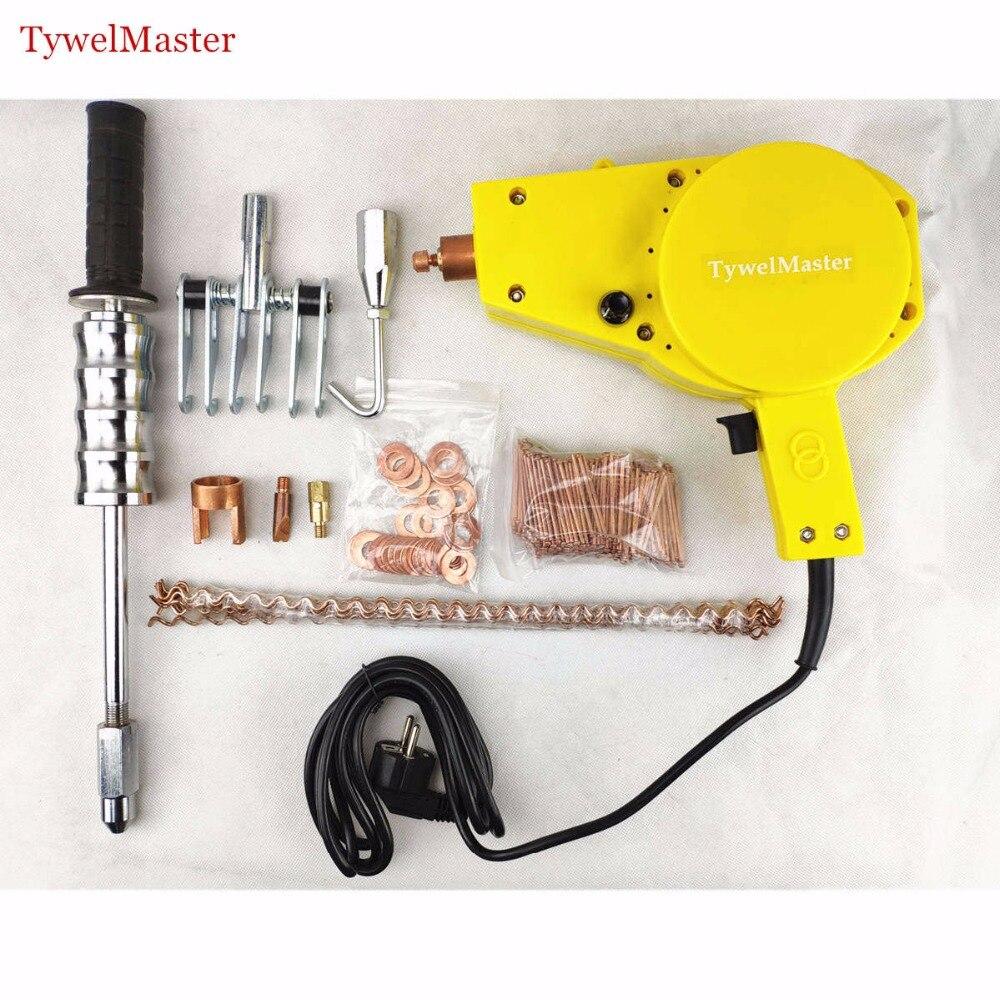 Mini Spotter Spot Welder 1300A Spot Welding Machine Car Sheet Metal Repair Tools Garage Dent Puller