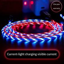 LED Flash Light Data Usb oplaadkabel Voor iPhone. Andriod micro Kabel, type C kabels 6 s 6 s 7 8 Plus Xs Max XR X 10 5 5 s SE ik