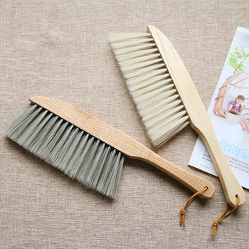 Bamboo Handle Mini Brooms Shovel Set Household Plastic Cleaning Brush Small Broom Dust Shovel 1
