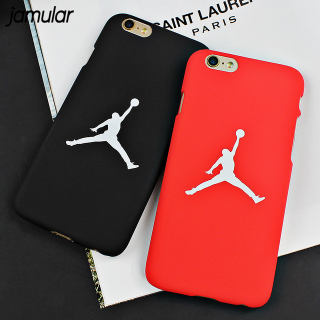 reputable site 9d574 b2df5 US $1.89 5% OFF|JAMULAR PC Hard Case For iPhone X XS MAX XR 7 6 6s 5s SE  Flyman Michael Jordan Back Cover For iPhone 7 8 6 6s Plus Cover Fundas-in  ...