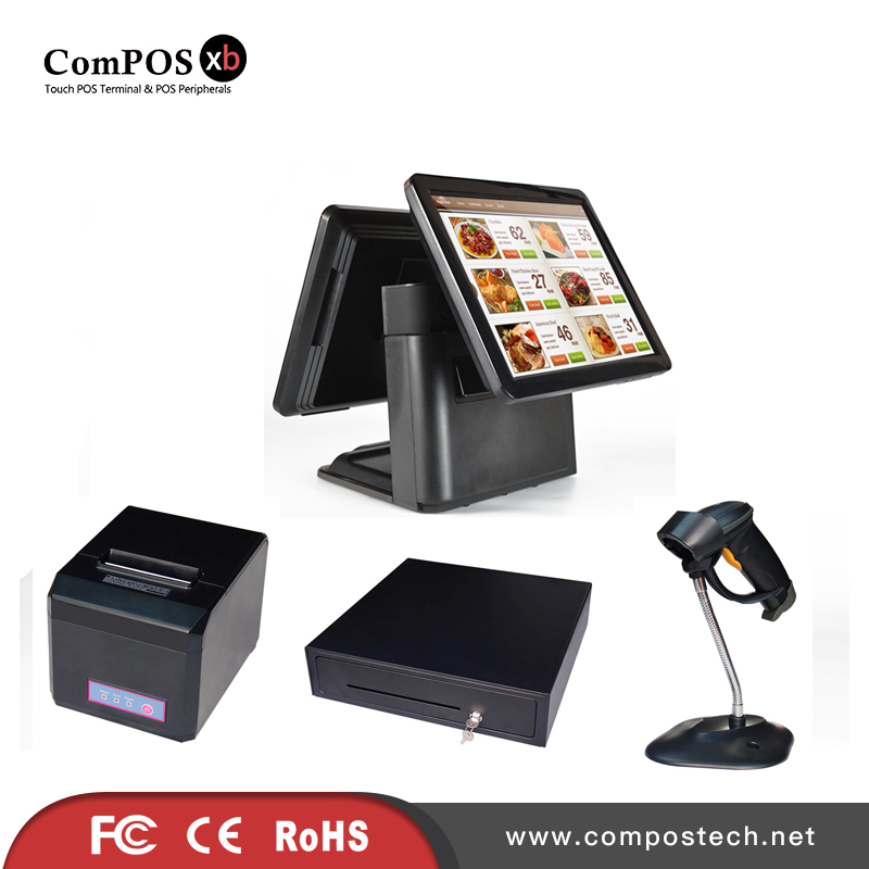 15'' double screen pos system for point of sale with pos cash register цены