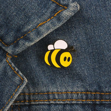 Cute Enamel Pin Women Cartoon Brooch Bee Denim Jackets Decoration Kids Yellow Brooches Lapel Badge on Backpack Jewelry Girl Gift(China)