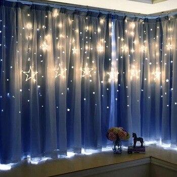 Weihnachten Girlande Romantische Fee Stern Led String Licht Warm Weiß 4M Eu-stecker AC 220V Licht Für Hochzeit Party Urlaub Neue Jahr